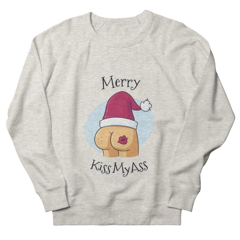 Merry KissMyAss Women's Sweatshirt by zoljo's Artist Shop
