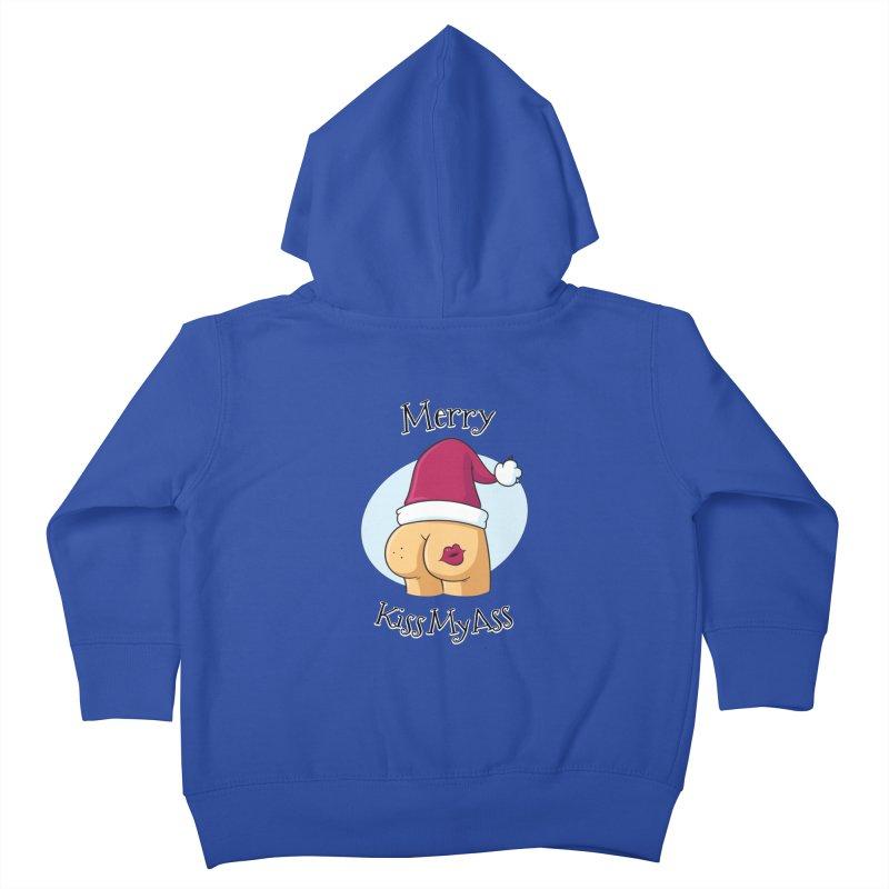 Merry KissMyAss Kids Toddler Zip-Up Hoody by zoljo's Artist Shop