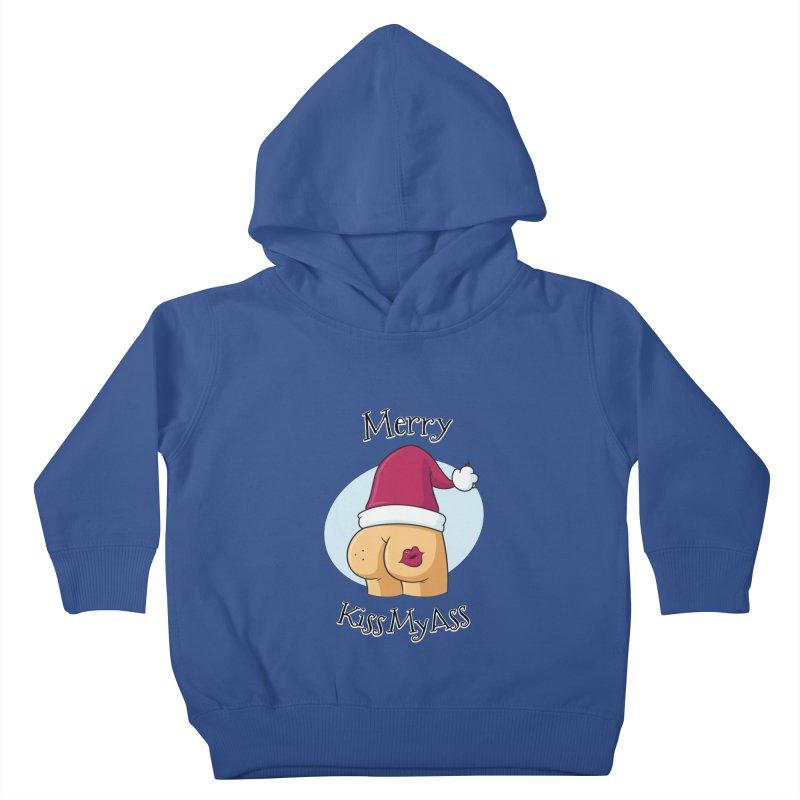 Merry KissMyAss Kids Toddler Pullover Hoody by zoljo's Artist Shop