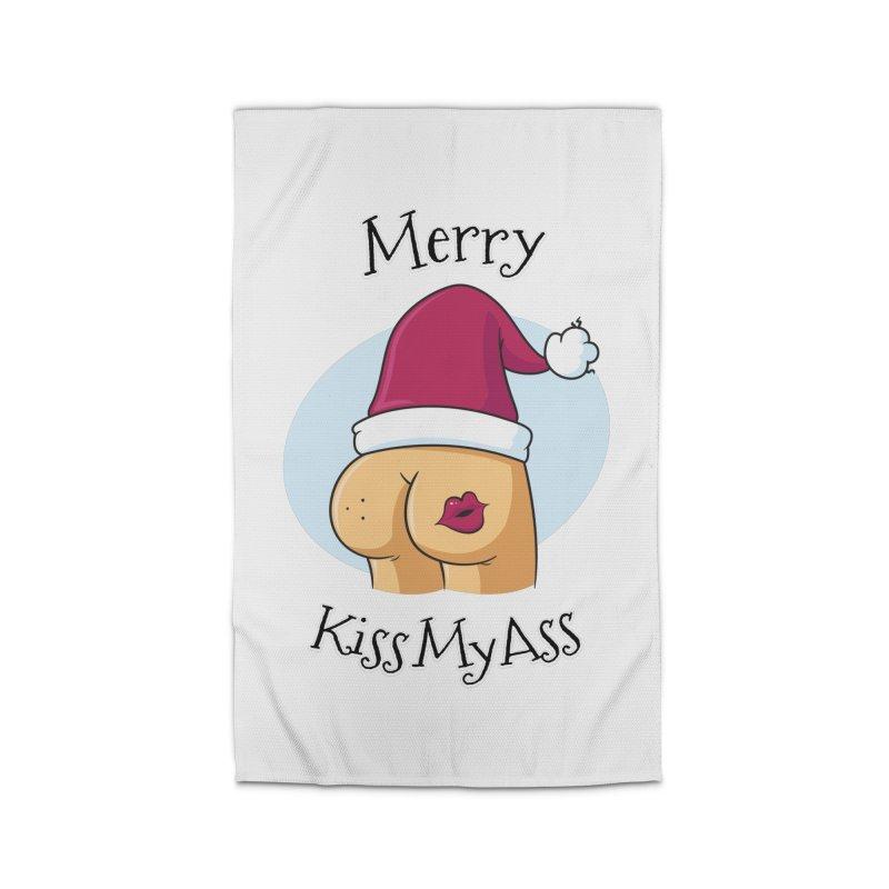 Merry KissMyAss Home Rug by zoljo's Artist Shop