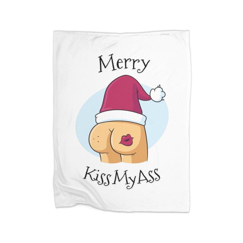 Merry KissMyAss Home Blanket by zoljo's Artist Shop