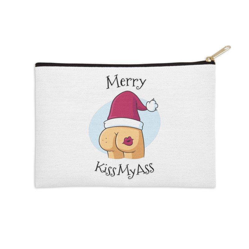 Merry KissMyAss Accessories Zip Pouch by zoljo's Artist Shop