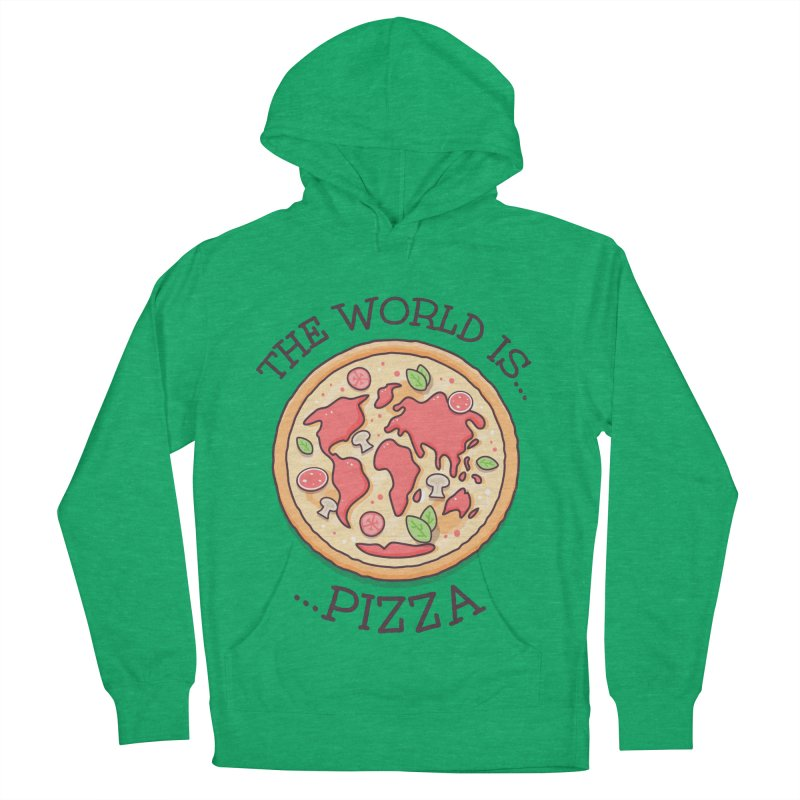 The World Is Pizza Men's Pullover Hoody by zoljo's Artist Shop