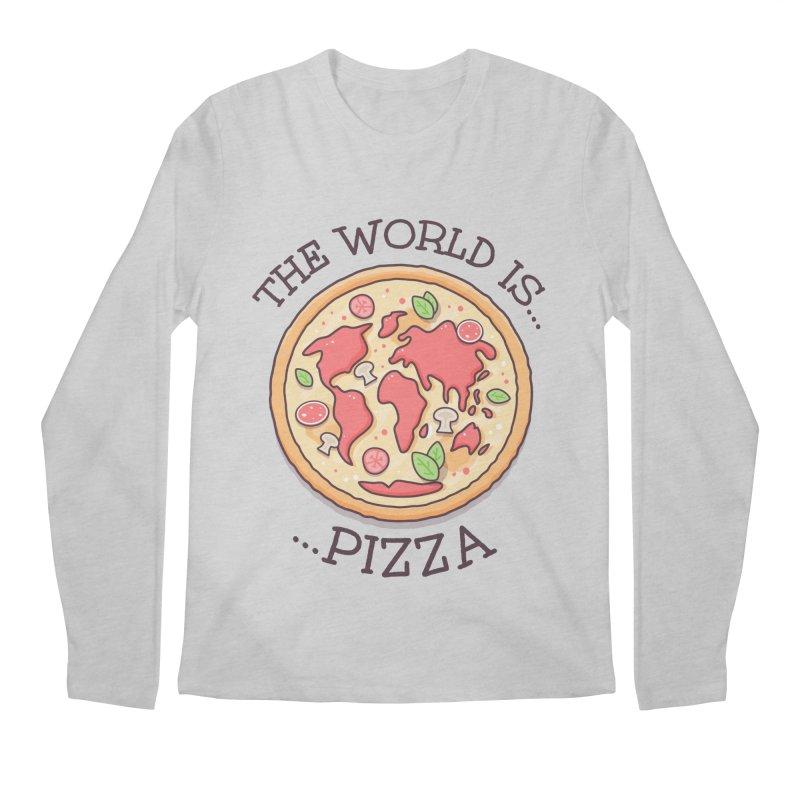 The World Is Pizza Men's Longsleeve T-Shirt by zoljo's Artist Shop