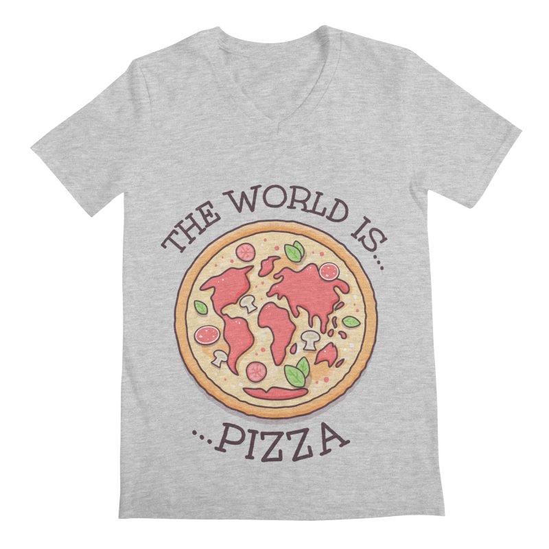 The World Is Pizza Men's V-Neck by zoljo's Artist Shop