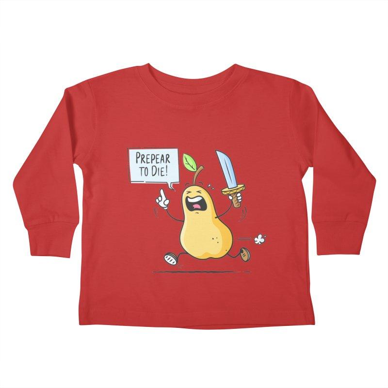 Prepear to Die Kids Toddler Longsleeve T-Shirt by zoljo's Artist Shop
