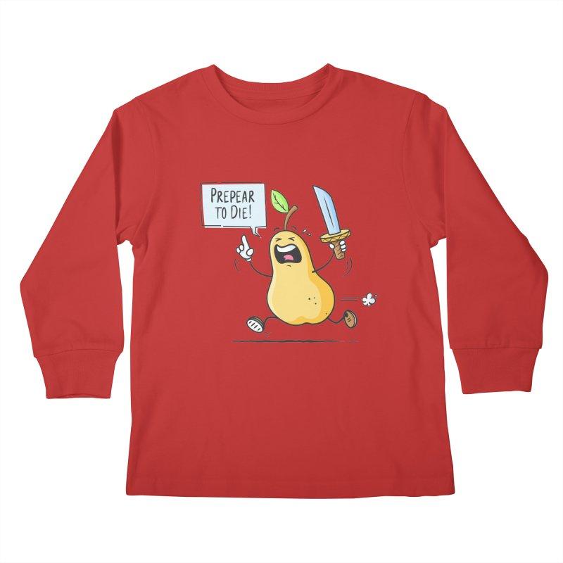 Prepear to Die Kids Longsleeve T-Shirt by zoljo's Artist Shop