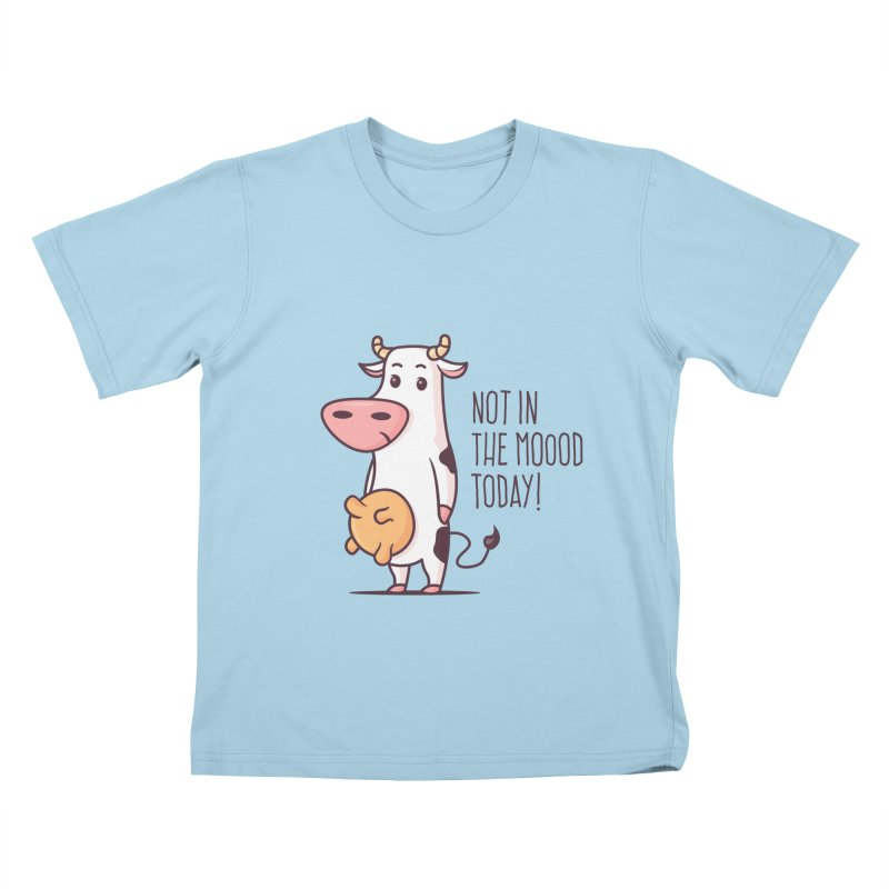 Not In The Mood Today Kids T-Shirt by zoljo's Artist Shop