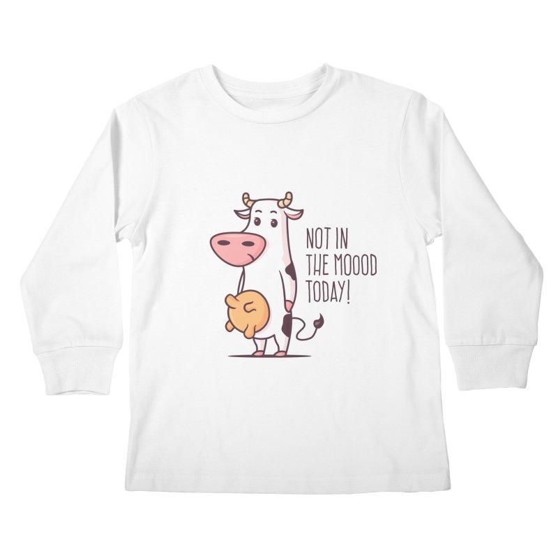 Not In The Mood Today Kids Longsleeve T-Shirt by zoljo's Artist Shop