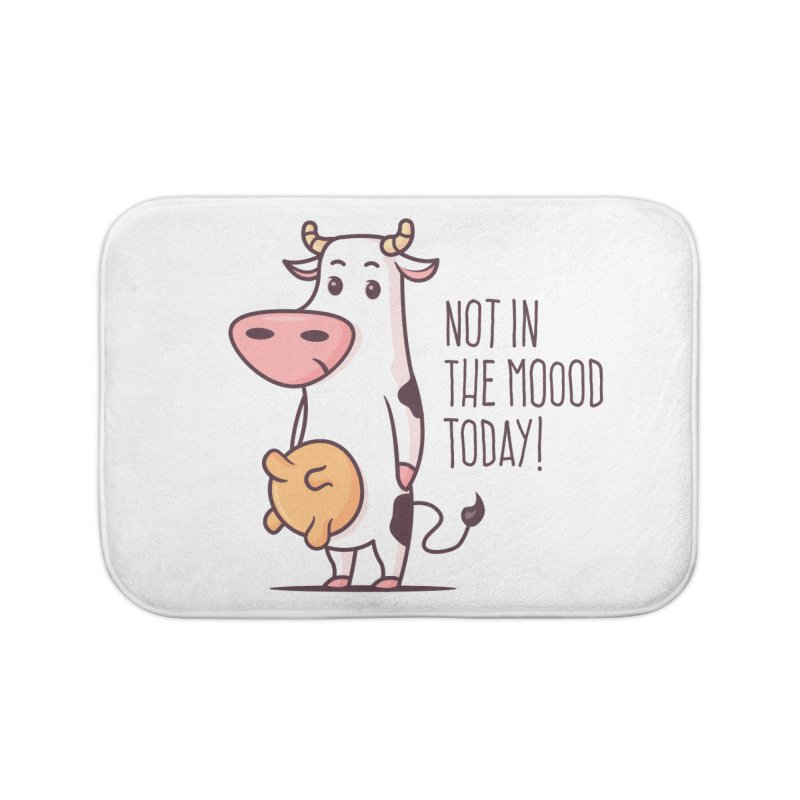 Not In The Mood Today Home Bath Mat by zoljo's Artist Shop