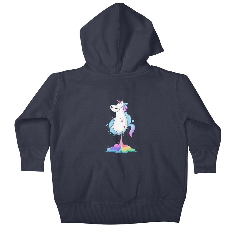 Farting Unicorn Kids Baby Zip-Up Hoody by zoljo's Artist Shop