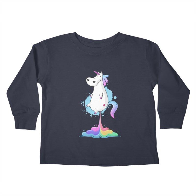 Farting Unicorn Kids Toddler Longsleeve T-Shirt by zoljo's Artist Shop
