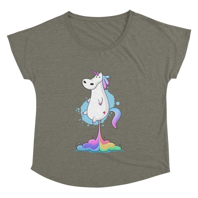 Farting Unicorn Women's Dolman by zoljo's Artist Shop