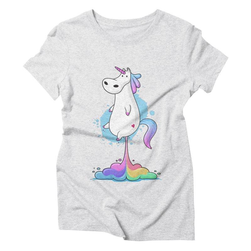 Farting Unicorn Women's Triblend T-Shirt by zoljo's Artist Shop