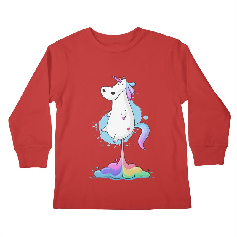Farting Unicorn Kids Longsleeve T-Shirt by zoljo's Artist Shop