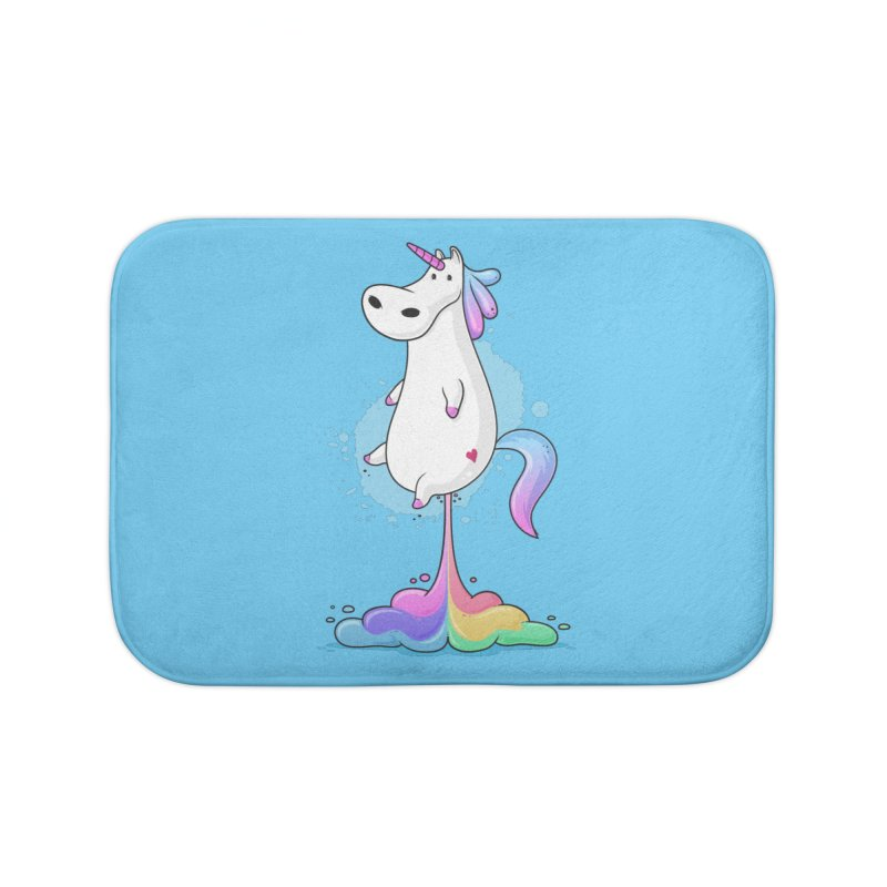 Farting Unicorn Home Bath Mat by zoljo's Artist Shop