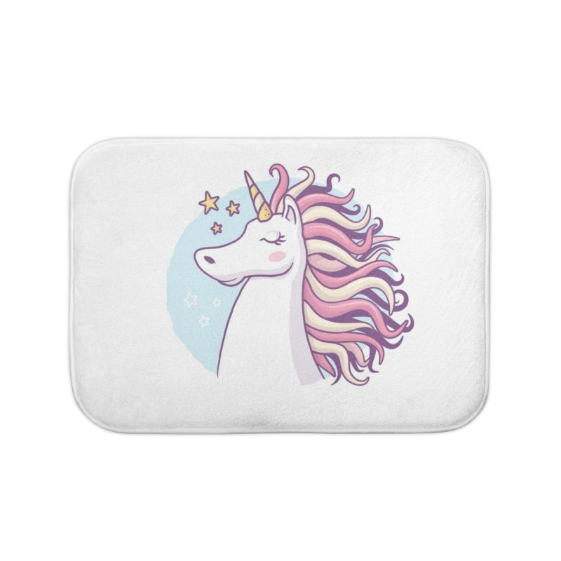 Unicorn Home Bath Mat by zoljo's Artist Shop