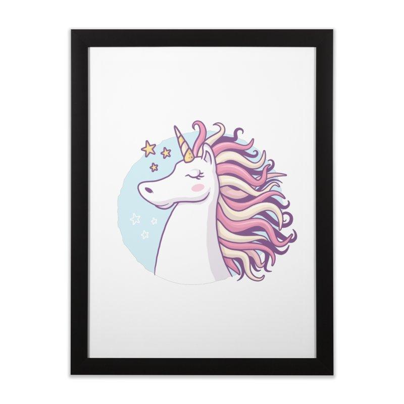 Unicorn Home Framed Fine Art Print by zoljo's Artist Shop
