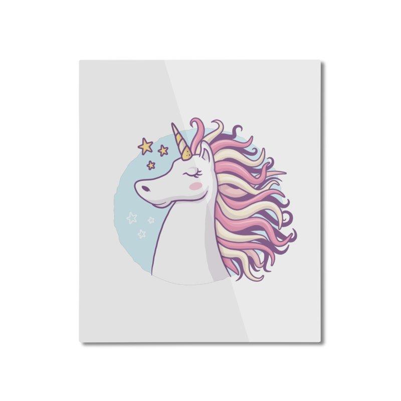 Unicorn Home Mounted Aluminum Print by zoljo's Artist Shop