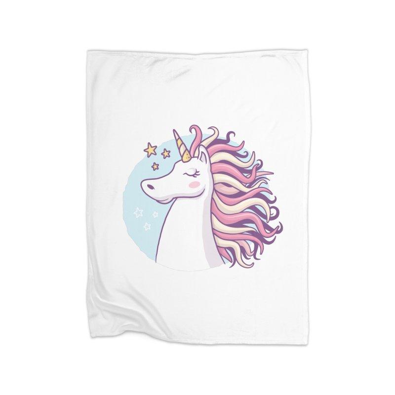 Unicorn Home Blanket by zoljo's Artist Shop