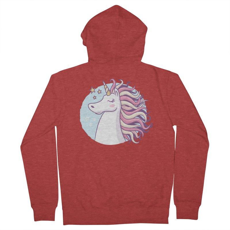 Unicorn Women's Zip-Up Hoody by zoljo's Artist Shop