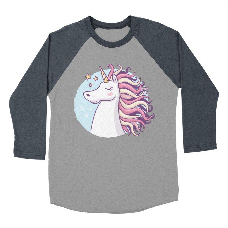Unicorn Women's Baseball Triblend T-Shirt by zoljo's Artist Shop