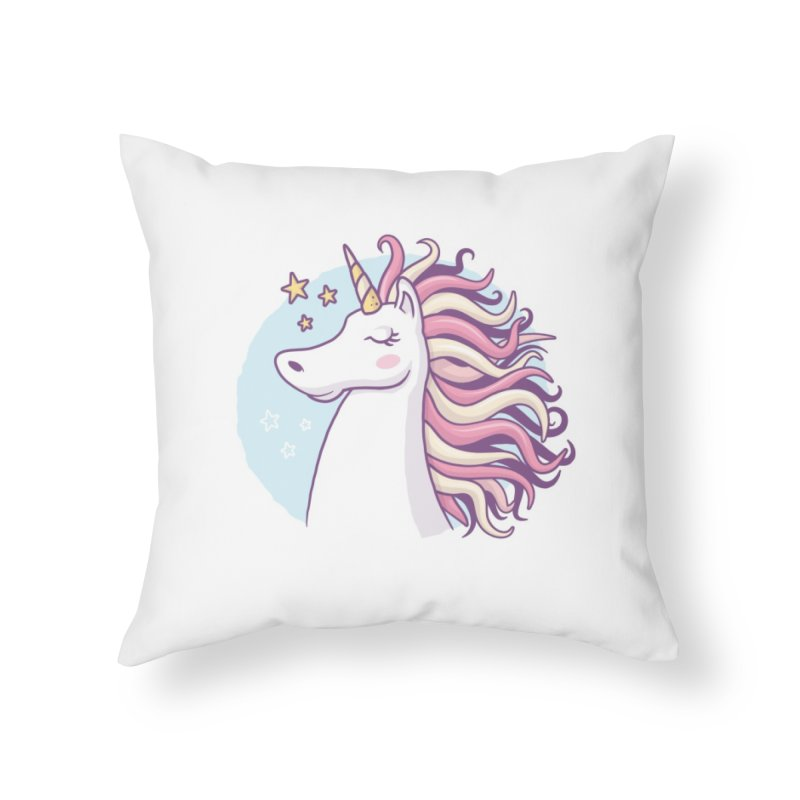 Unicorn Home Throw Pillow by zoljo's Artist Shop