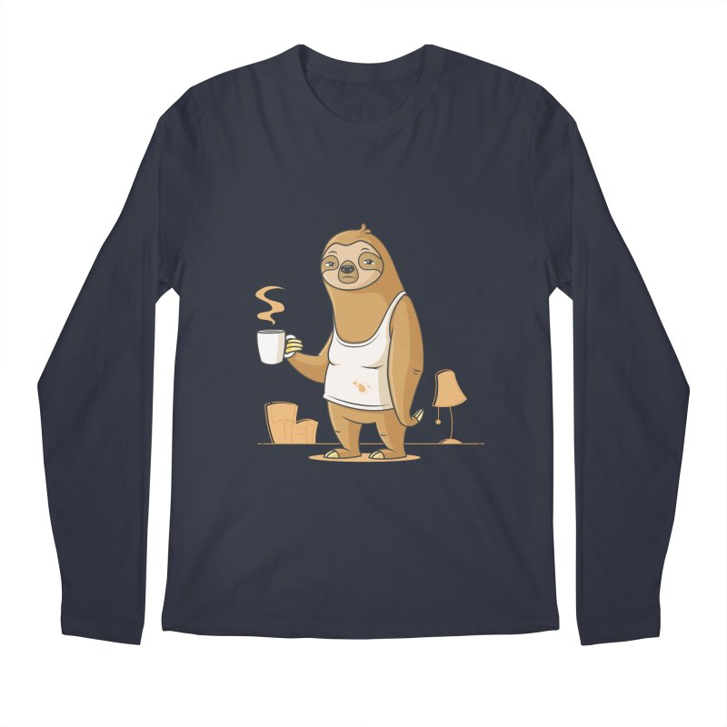 Monday Morning Depresso Men's Longsleeve T-Shirt by zoljo's Artist Shop