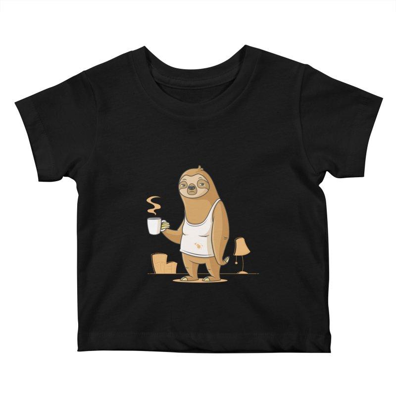 Monday Morning Depresso Kids Baby T-Shirt by zoljo's Artist Shop