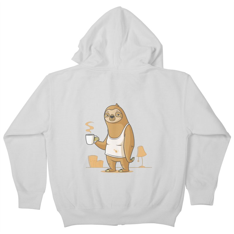 Monday Morning Depresso Kids Zip-Up Hoody by zoljo's Artist Shop