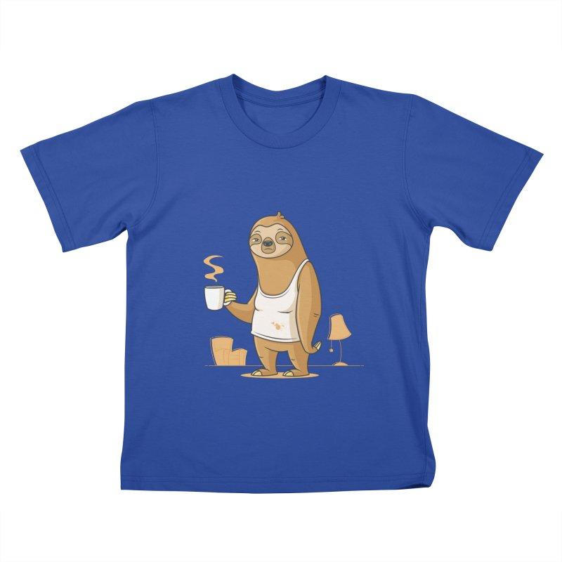 Monday Morning Depresso Kids T-Shirt by zoljo's Artist Shop