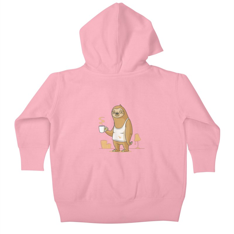 Monday Morning Depresso Kids Baby Zip-Up Hoody by zoljo's Artist Shop