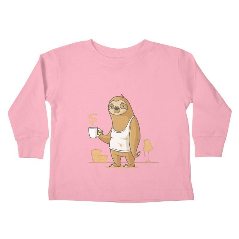 Monday Morning Depresso Kids Toddler Longsleeve T-Shirt by zoljo's Artist Shop