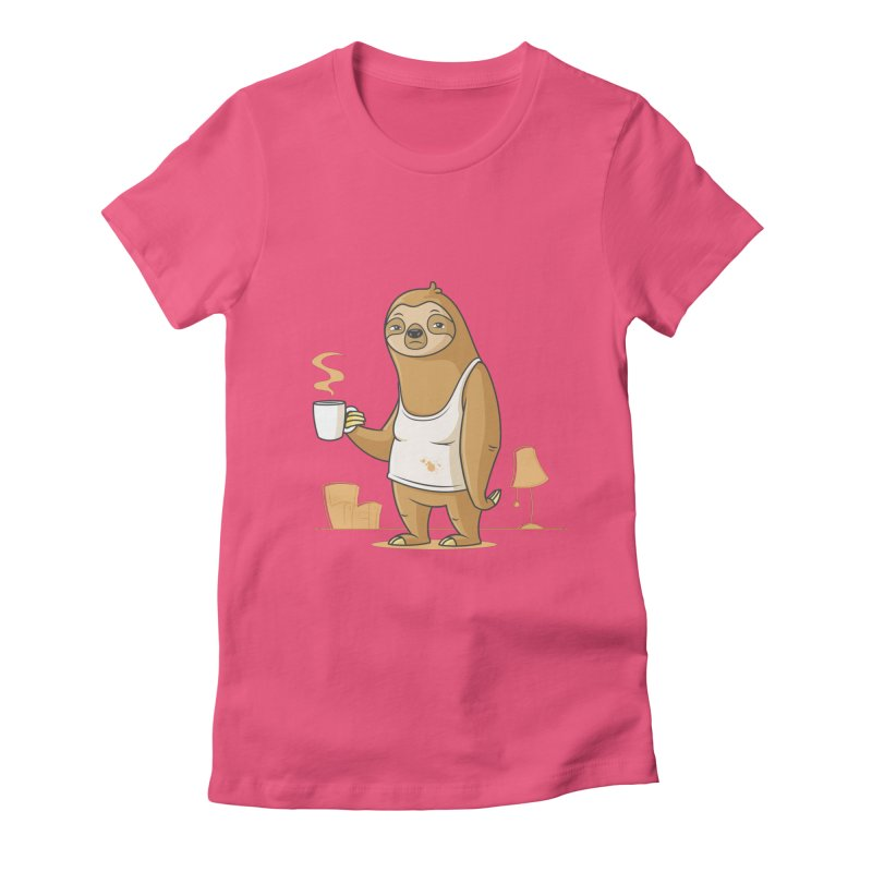 Monday Morning Depresso Women's Fitted T-Shirt by zoljo's Artist Shop
