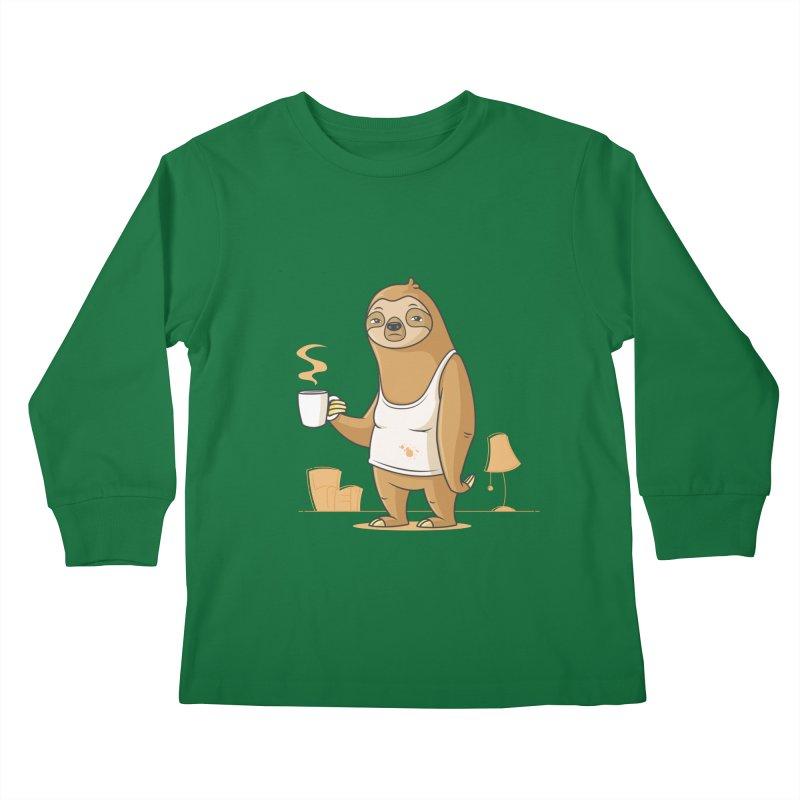 Monday Morning Depresso Kids Longsleeve T-Shirt by zoljo's Artist Shop