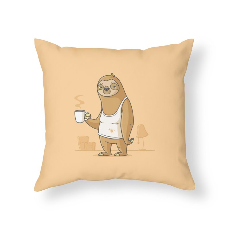 Monday Morning Depresso Home Throw Pillow by zoljo's Artist Shop