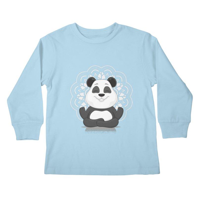 NAMASTE Kids Longsleeve T-Shirt by zoljo's Artist Shop