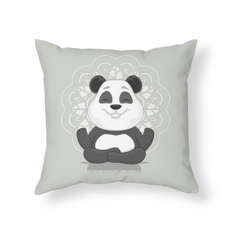 NAMASTE Home Throw Pillow by zoljo's Artist Shop