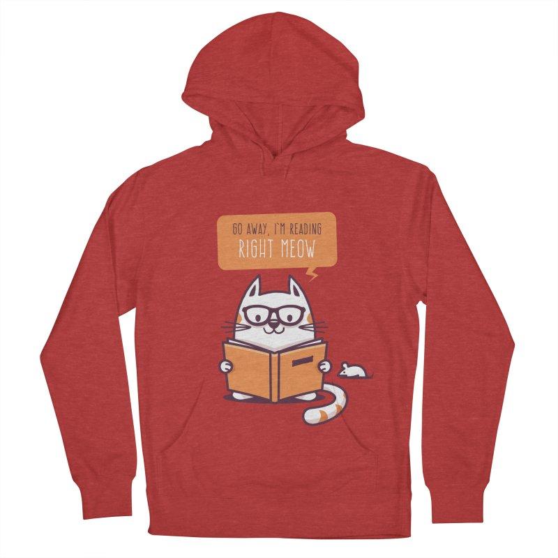 Go Away I'm Reading Right Meow Men's Pullover Hoody by zoljo's Artist Shop