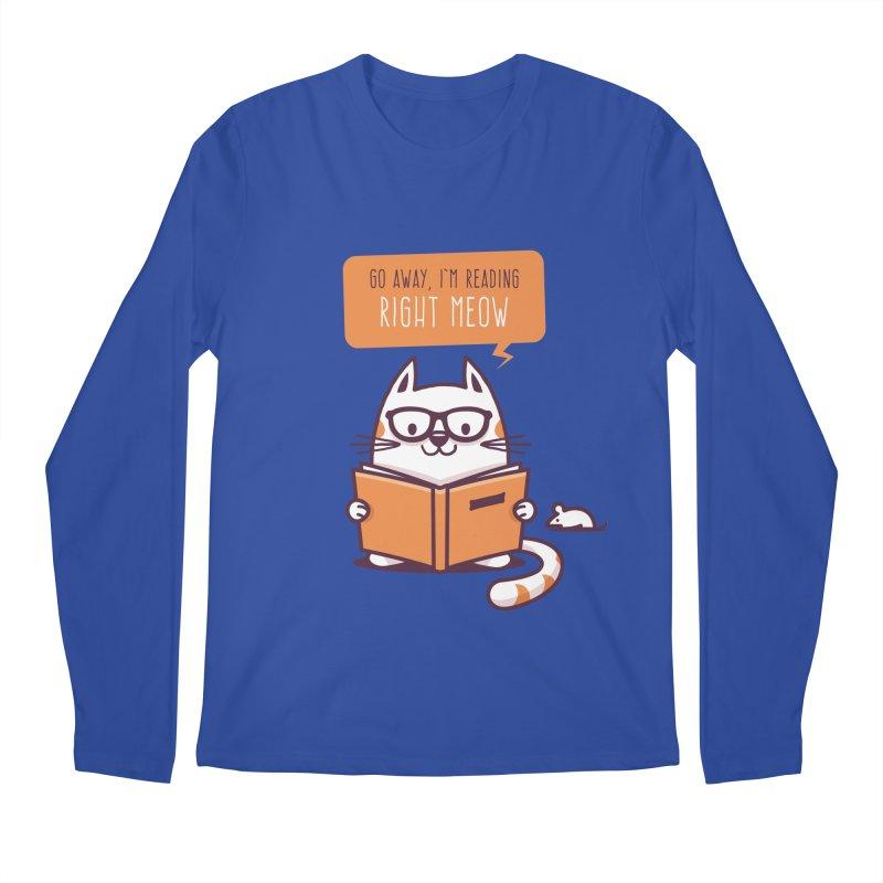 Go Away I'm Reading Right Meow Men's Longsleeve T-Shirt by zoljo's Artist Shop