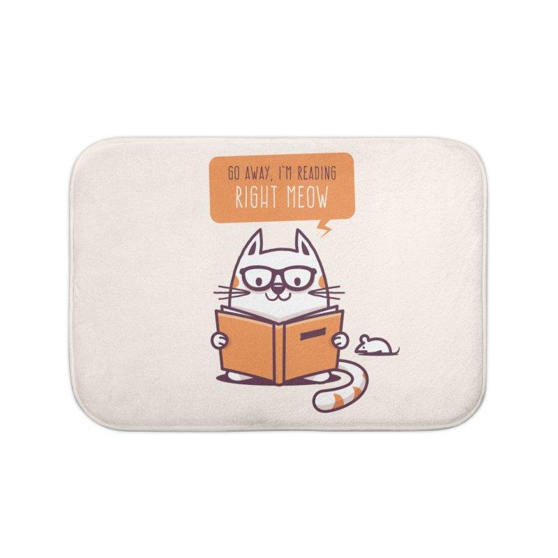 Go Away I'm Reading Right Meow Home Bath Mat by zoljo's Artist Shop