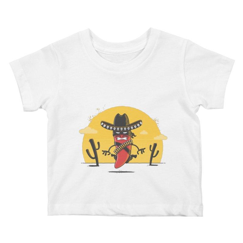 Chili Desperado Kids Baby T-Shirt by zoljo's Artist Shop