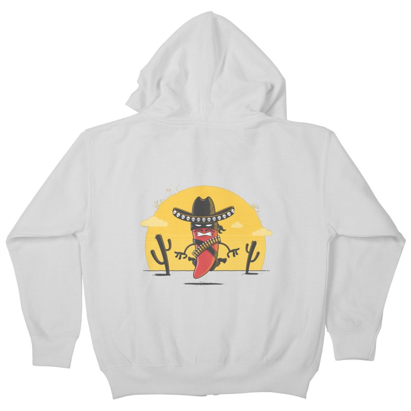 Chili Desperado Kids Zip-Up Hoody by zoljo's Artist Shop