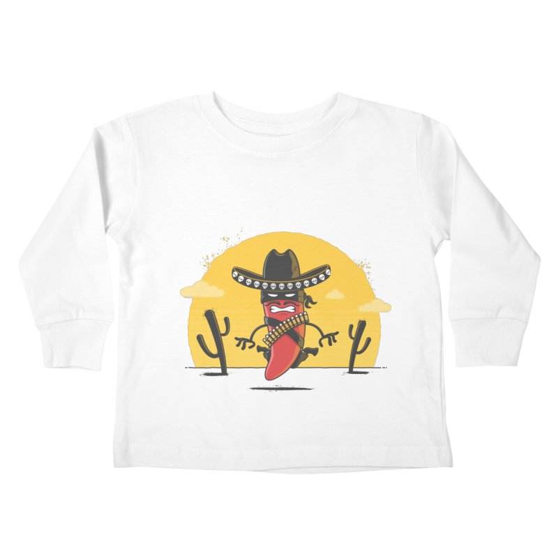 Chili Desperado Kids Toddler Longsleeve T-Shirt by zoljo's Artist Shop