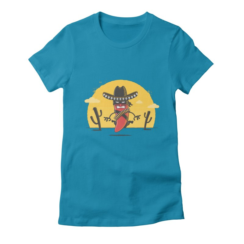 Chili Desperado Women's Fitted T-Shirt by zoljo's Artist Shop