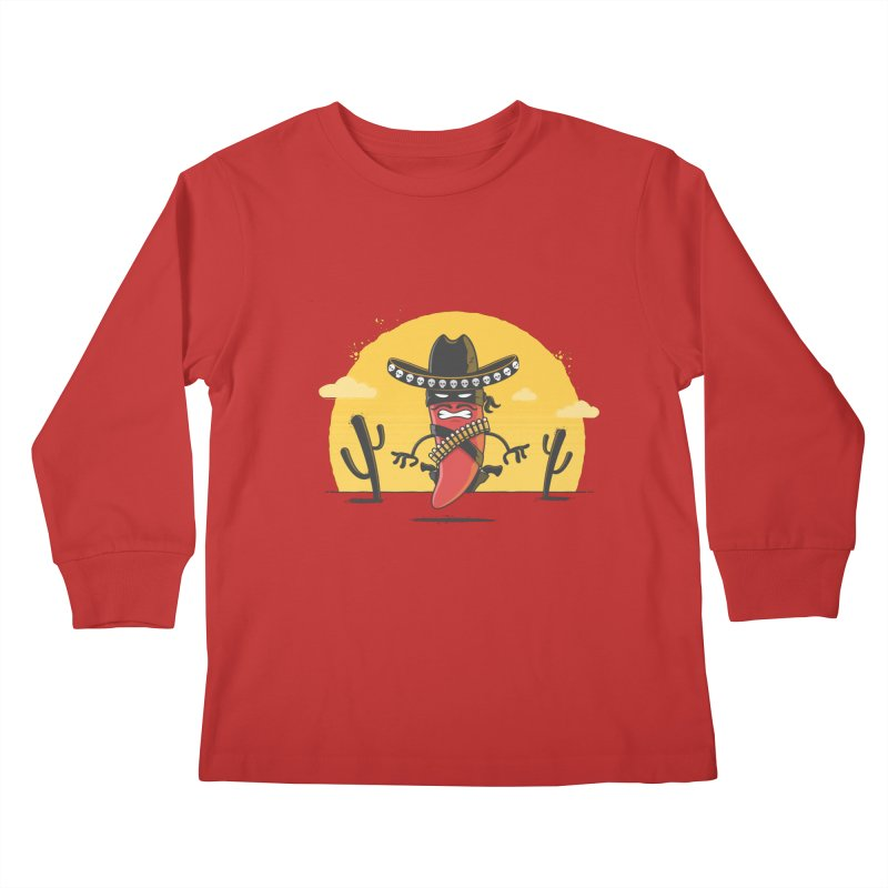 Chili Desperado Kids Longsleeve T-Shirt by zoljo's Artist Shop
