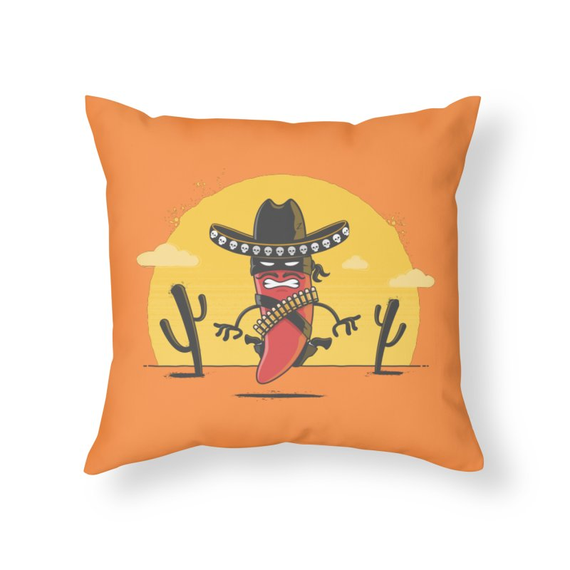 Chili Desperado Home Throw Pillow by zoljo's Artist Shop