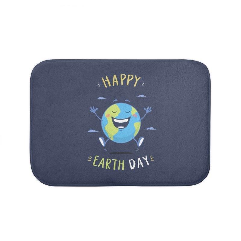 Happy Earth Day Home Bath Mat by zoljo's Artist Shop
