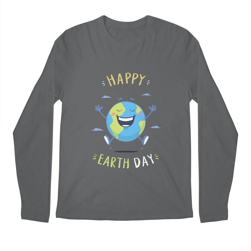 Happy Earth Day Men's Longsleeve T-Shirt by zoljo's Artist Shop