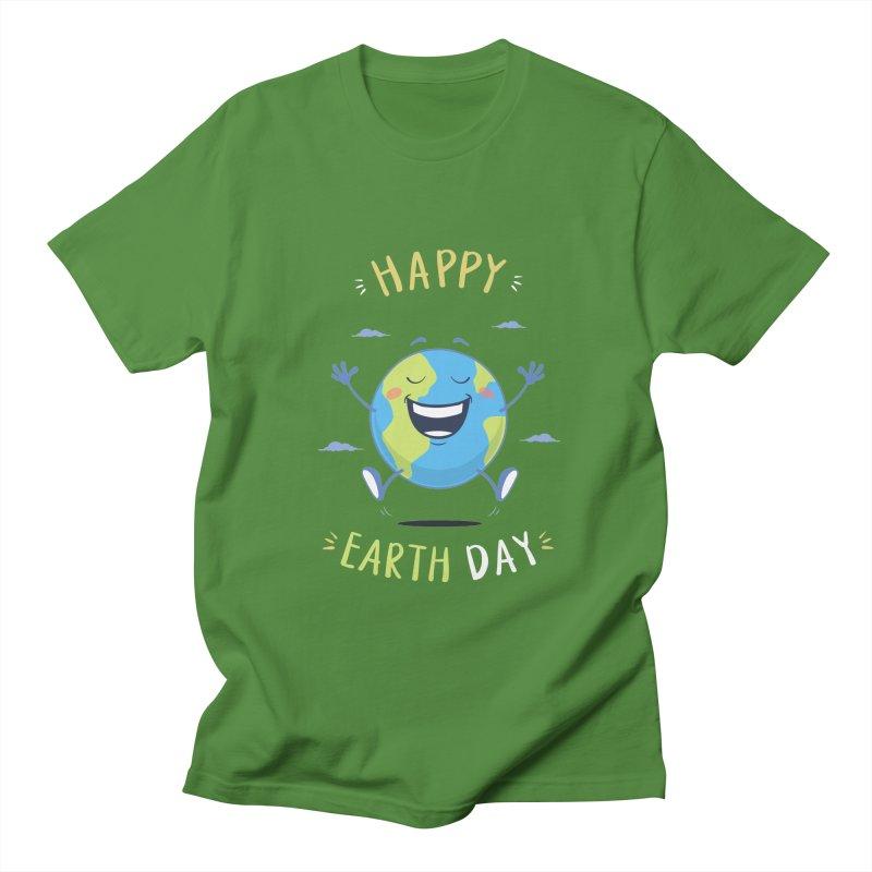 Happy Earth Day Men's T-Shirt by zoljo's Artist Shop